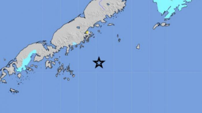 Gempa bumi magnitudo 8.2, Kamis 29 Juli 2021 di Alaska.