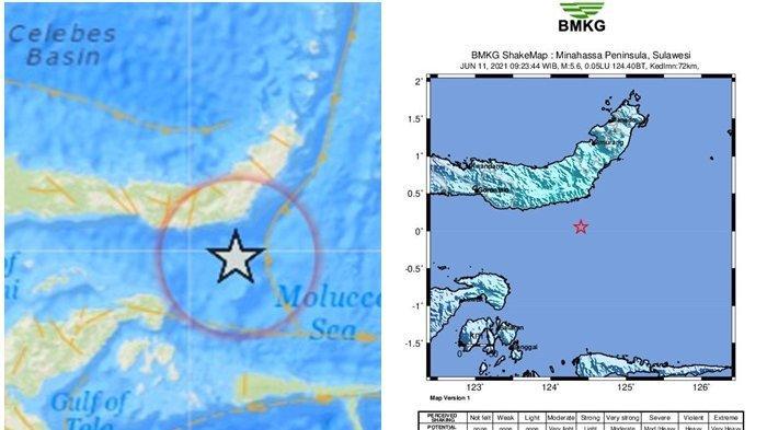 Gempa Bumi Magnitudo 5,7 Jumat Tadi, Ini Lokasi dan Titik Gempa, Hindari Bangunan Retak