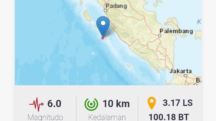 Gempa 6.0 SR Selasa (3/8/2021) Wilayah Ini 2 Kali Diguncang, Berikut Info BMKG Titik Koordinatnya