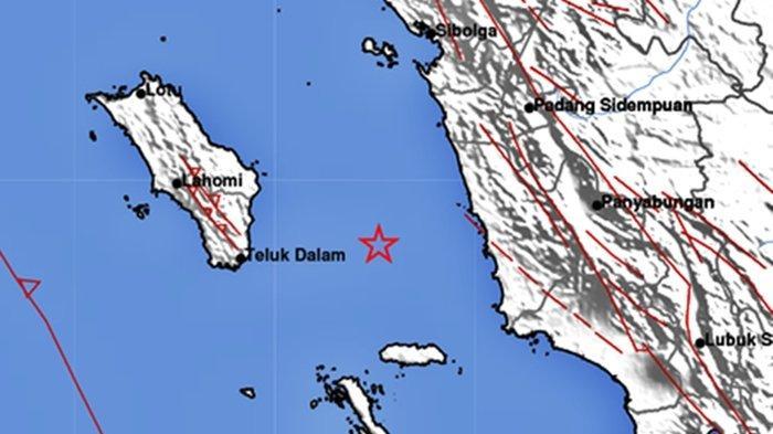 Gempa bumi Rabu 1 September 2021 malam di wilayah Sumut info terkini BMKG.