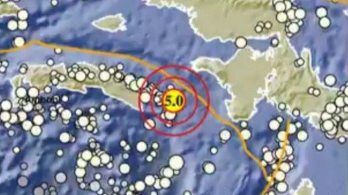 Gempa Bumi Magnitudo 5.0 SR, Ini Lokasi Pusat Gempa