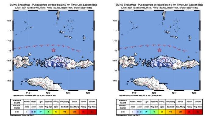 Gempa bumi siang ini Rabu (9/6/2021)