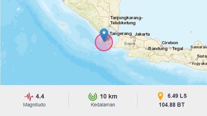 gempa bumi tadi malam guncang sumur banten Kamis 8 Juli 2021