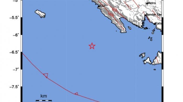 Gempa di Laut Tadi Malam Pukul 22.10 WIB, Info BMKG Berikut Titik Lokasi Pusatnya
