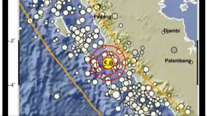 Gempa bumi tadi malam, Minggu 27 Juni 2021 di Bengkulu.