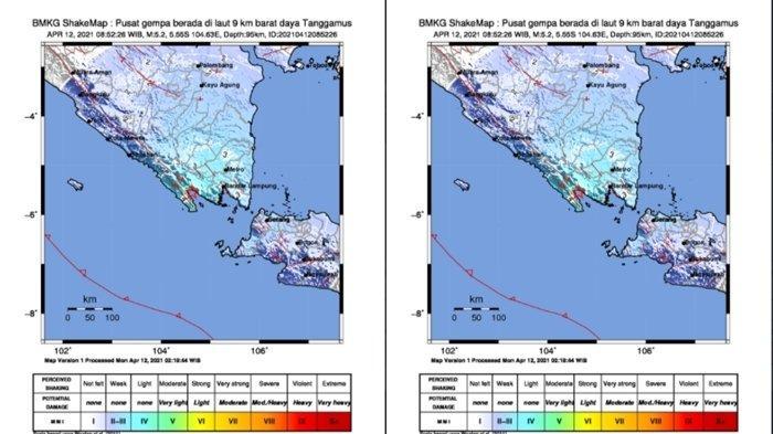 Gempa Bumi Tadi Pukul 08.52 WIB Berkekuatan 5,2 SR Guncang Wilayah Ini, Berikut Titik Lokasinya