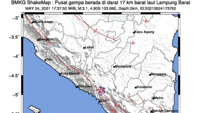 Gempa Bumi Tadi Sore Terjadi di Darat, Info BMKG Waspada Gempa Susulan, Ini Magnitudo dan Lokasinya