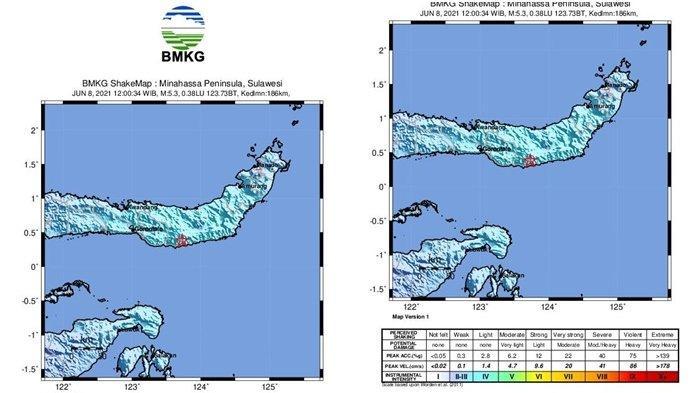 Gempa Bumi Tektonik Magnitudo 5,3 Guncang Bolaang Mongondow Selatan