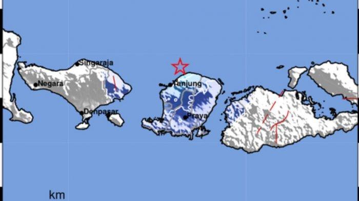 Gempa Bumi Tadi Malam Pukul 22.11 WIB, Terjadi di Dekat Lombok Utara