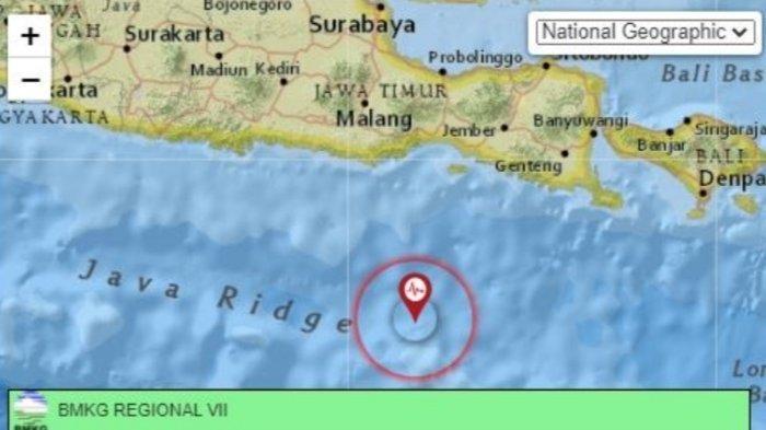 Gempa Bumi Terkini di Jawa Timur, Kamis 15 Juli 2021.