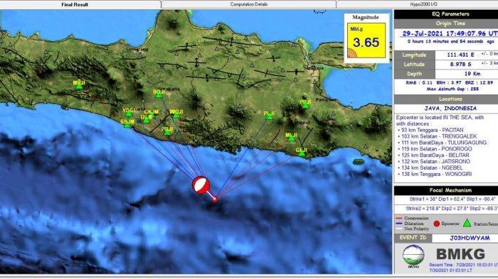 Gempa Terkini Tadi Pukul 00.49 WIB, Ini Info BMKG Magnitudo dan Lokasinya