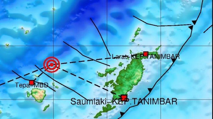 Gempa bumi terkini melanda wilayah Tepa, Maluku Barat Daya, Sabtu (18/9/2021) dini hari.