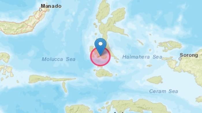 Gempa bumi terkini mengguncang di Labuha, Kecamatan Bacan, Kabupaten Halmahera Selatan, Maluku Utara.
