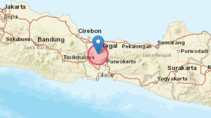 Gempa bumi terkini mengguncang di wilayah Bumiayu, Brebes, Jawa Tengah (Jateng).