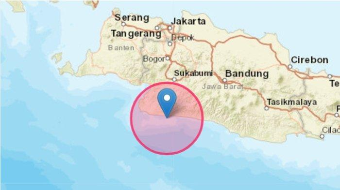 Gempa bumi terkini mengguncang di wilayah Kabupaten Sukabumi, Jawa Barat (Jabar).