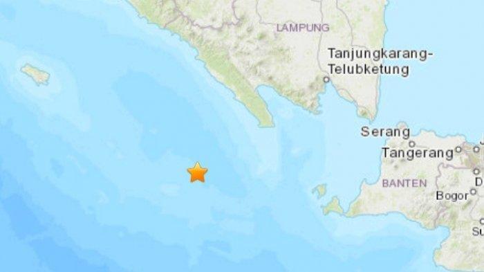 Gempa bumi terkini Minggu 18 Juli 2021. Gempa magnitudo 4.9 SR di wilayah Lampung.