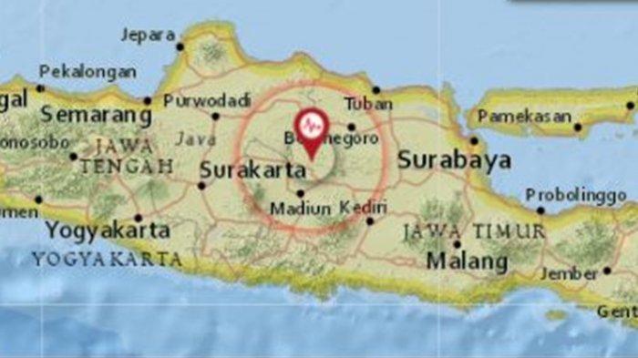 Gempa di Darat Rabu (22/9/2021) Pagi Ini Guncang Jawa Timur, Berikut Lokasi dan Magnitudonya