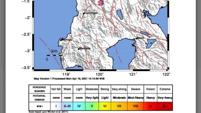 Terjadi Gempa Bumi di Darat Tadi Malam, Ini Lokasi dan Kekuatannya