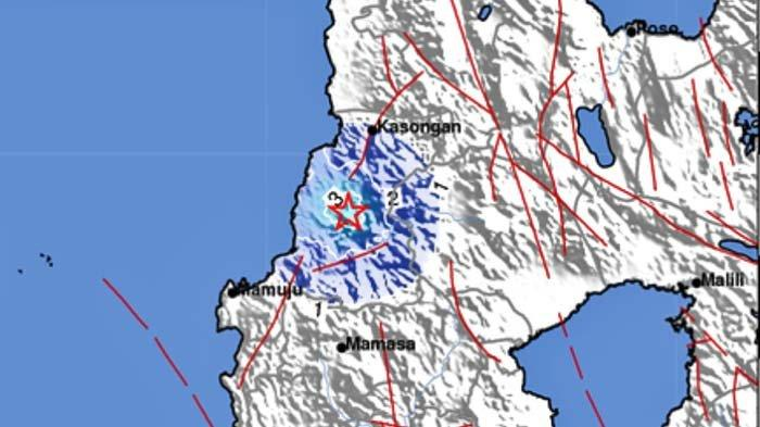Gempa Tadi Malam Pukul 23.39 Wita, Terjadi di Darat, Berikut Lokasi Titik Pusatnya