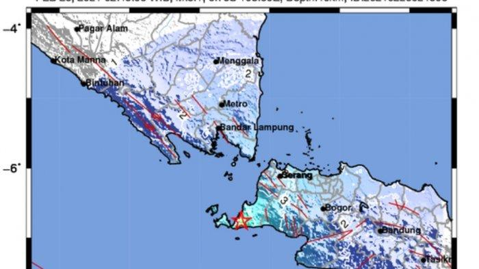 Gempa Bumi Pukul 02.45 WIB, BMKG Catat Terjadi di Darat, 6 Daerah Merasakan Guncangan