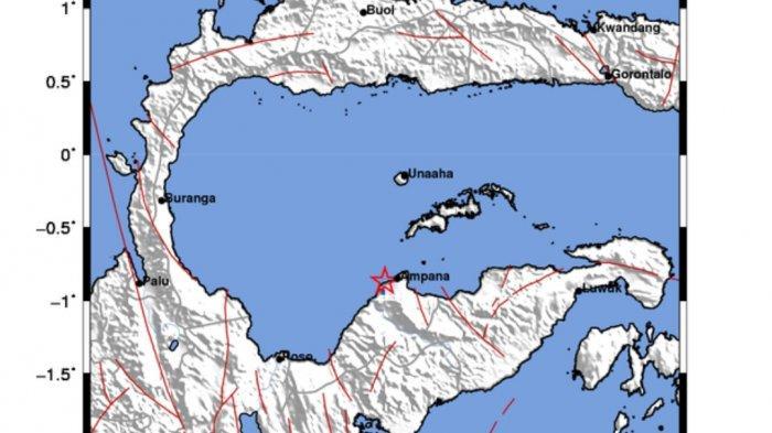 Gempa di Ampana hari ini Selasa (31/8/2021). Ini titik pusat gempa dan kekuatannya.