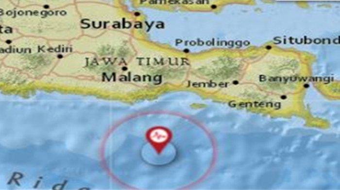 Gempa Tadi Pukul 10.57 WIB Minggu 26 September 2021, Jawa Timur Diguncang, Ini Data BMKG Magnitudo