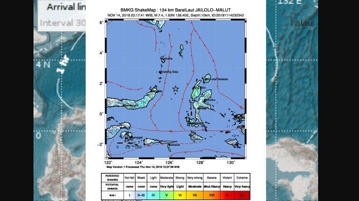 Gempa Bumi Terkini, Manado Terguncang, Warga Malalayang Lari Tinggalkan Rumah