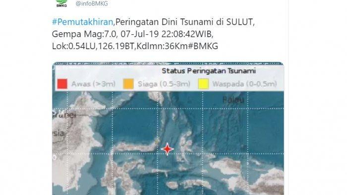 Gempa di Maluku dan Sulut, BMKG Masih Terus Lakukan Pemantauan, Masyarakat Diminta Tenang