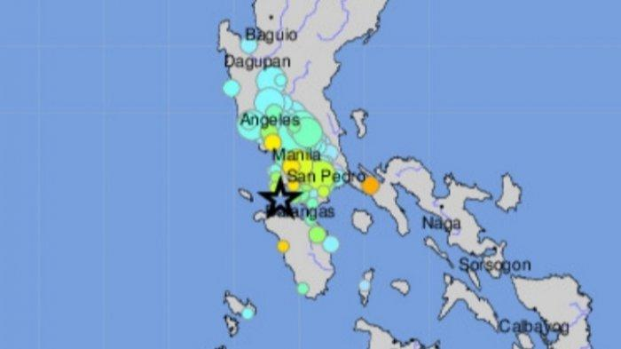 Gempa Magnitudo 6.7 Sabtu 24 Juli 2021 Pagi di Filipina.