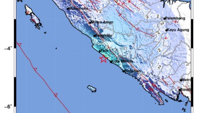 Gempa 5.1 SR Tadi Pukul 01.41 WIB Minggu 15 Agustus 2021, Berikut Ini Info Titik Lokasinya