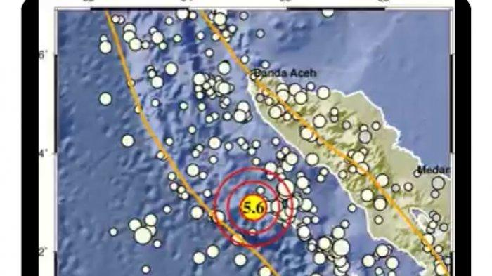 Gempa di Sinabang Aceh tadi dini hari Rabu 15 September 2021.