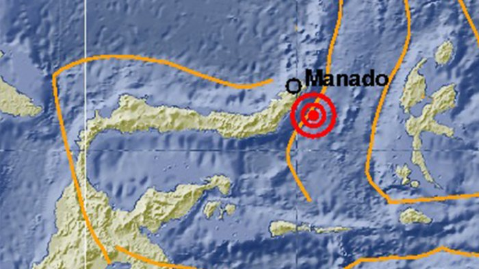 Gempa Bumi Tadi Pagi, Guncang Boltim-Sulut, Kerusakan Belum Diinformasikan, Ini Magnitudo Gempa