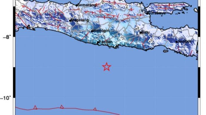 Gempa di dekat Pacitan tadi malam.