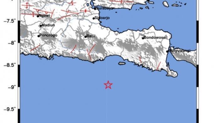 Gempa Tadi Malam di Laut, Tercatat BMKG Ini Lokasi Pusat Gempa dan Kekuatannya