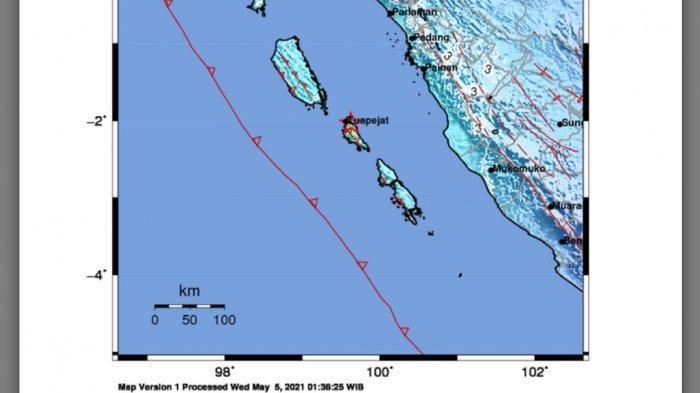 Gempa Magnitudo 5.8 Terjadi Jam 8, Ini Lokasi dan Kekuatannya Data BMKG Rabu 5 Mei 2021