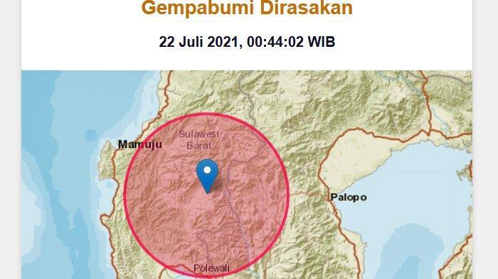 Pukul 00.44 WIB hingga 07.49 WIB, BMKG Sebut Sudah Terjadi 46 kali Gempa Swarm Lanjutan di Mamasa