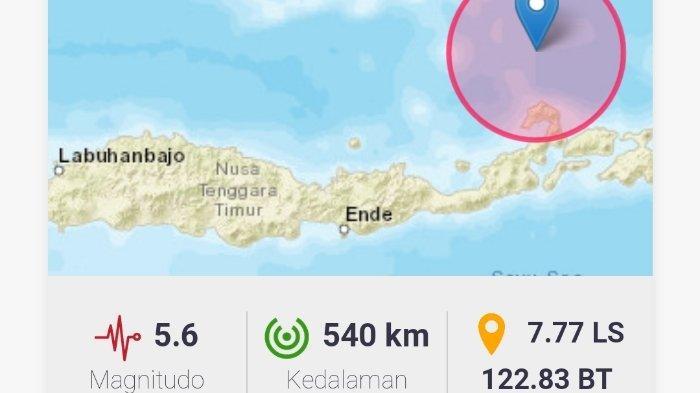 Gempa Terkini 5.6 SR Kamis (5/8/2021) Guncang Wilayah di Indonesia, Ini Info BMKG Titik Lokasinya