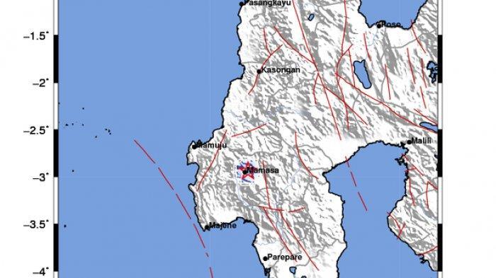 Gempa Bumi Pukul 13.37 WIB Senin 31 Agustus 2020, Terjadi di Dekat Mamasa