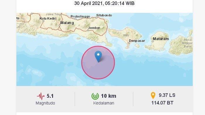 Gempa Bumi Tadi Pagi Jumat (30/5/2021), BMKG Keluarkan Peringatan, Ini Lokasi dan Magnitudo Gempa