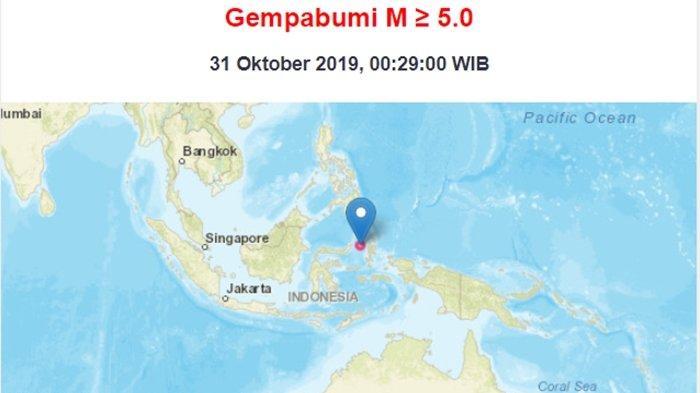 BREAKING NEWS: Gempa Bumi Magnitudo 5.4 SR Guncang Manado, BMKG Imbau Waspada Gempa Susulan