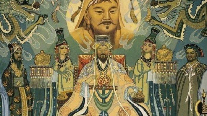 Ilustrasi Genghis Khan.