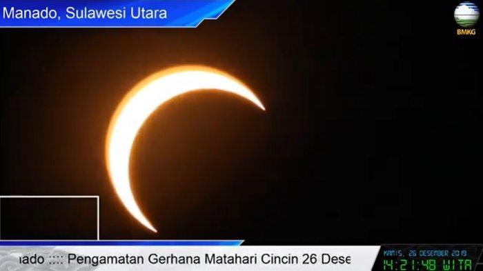 SEDANG BERLANGSUNG Fenomena Gerhana Matahari Cincin Minggu 21 Juni 2020 di Sulut dan 22 Wilayah