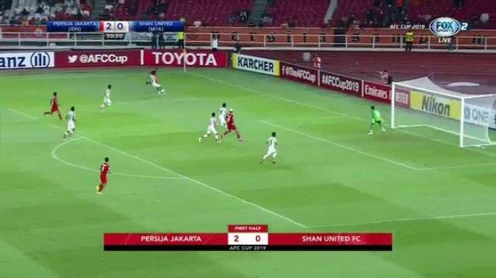 Piala AFC - Gol ala Ronaldinho, Bruno Matos Bawa Persija Unggul Sementara Atas Shan United