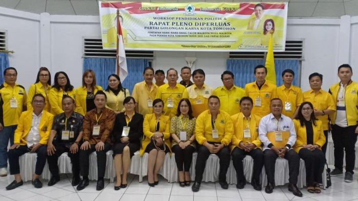 Golkar Tetapkan 9 Nama Balon Wali Kota dan Wakil Wali Kota di Tomohon, Ini Daftarnya