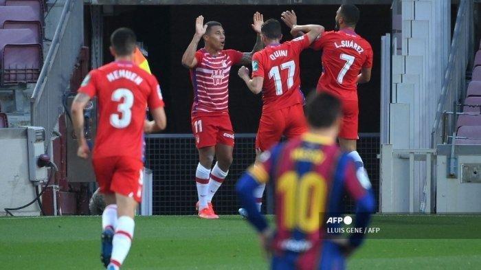Hasil Liga Spanyol, Gol Messi Tak Berguna Kena Comeback, Granada Gagalkan Barcelona Kudeta Atletico