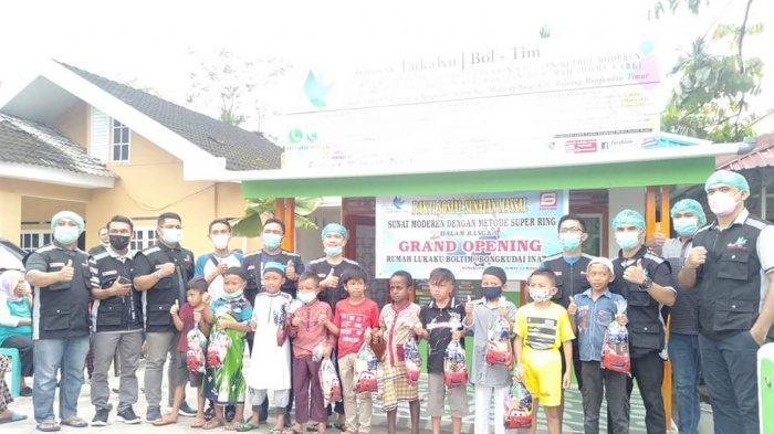 Grand Opening Rumah Lukaku Desa Bongkudai Gelar Sunatan Massal Tanpa Jahit dan Jarum Suntik