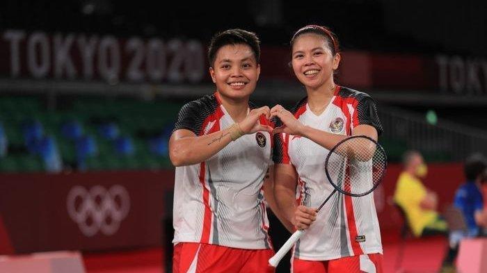 LIVE STREAMING Greysia Polii/ Apriyani Rahayu Lawan China di Final Badminton Olimpiade Tokyo