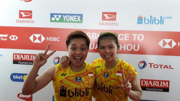 Pasangan ganda putri Indonesia, Greysia Polii dan Apriyani Rahayu