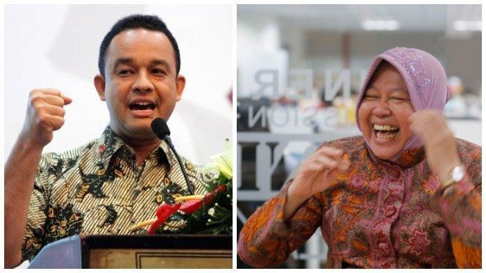 Blusukan Bikin Elektabilitas Risma Naik, Anies Stagnan, Pilgub DKI Peluang Hanya 2 Pasang Calon