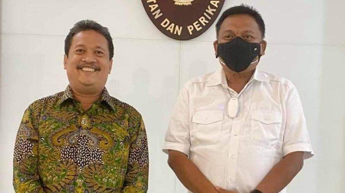 Gubernur didampingi Anggota DPRD Sulut, Rocky Wowor melakukan pertemuan dengan Wahyu Sakti Trenggono, Menteri Kelautan dan Perikanan, Jumat (6/7/2021).